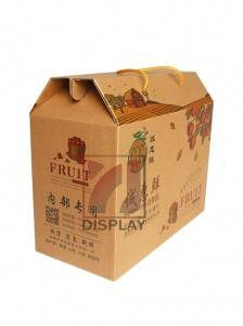 2019 new design carton kraft cardboard box with handle for sale