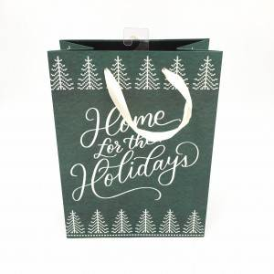 Customized Different Sized Cheap Gift Art Paper Bag with glitter on Logo