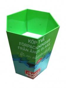Tissue pape promotion dump bin display stand pop display pallet for commodity in supermarket snack food stand