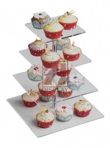 customized 4 5 6 7 Tier Crystal Clear Acrylic Round wedding Cupcake Stand cake stand acrylic 4 tier round