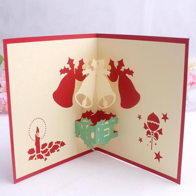 Wholesale Christmas Custom Pop Up Greeting Cards