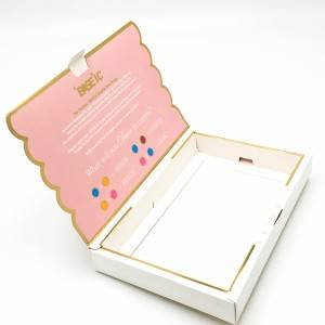 Custom size box made elegent design hot stamping cardboard paper box
