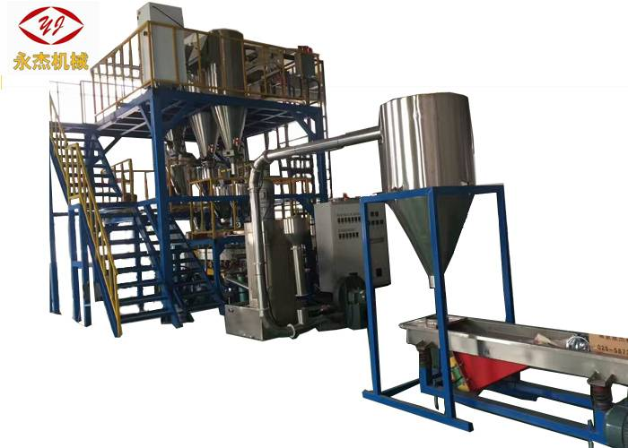 Automatic Ịnụrụ Masterbatch Extruder, 2 Stage Hdpe extrusion Machine