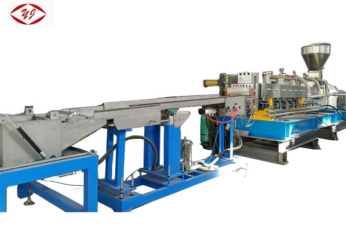 500-800kg/H Dual Screw PET Pelletizing Machine With Water Strand Auxiliary System