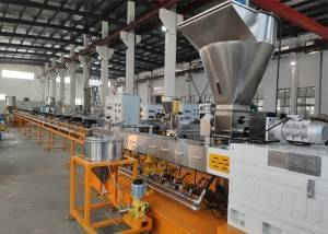 Corn Starch Biodegradable Plastic Pellet Making Machine , PP Extruder Machine 90kw