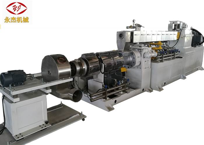 High Efficiency Two Stage Extruder Machine For PVC Cable 71mm/180mm Screw Diameter