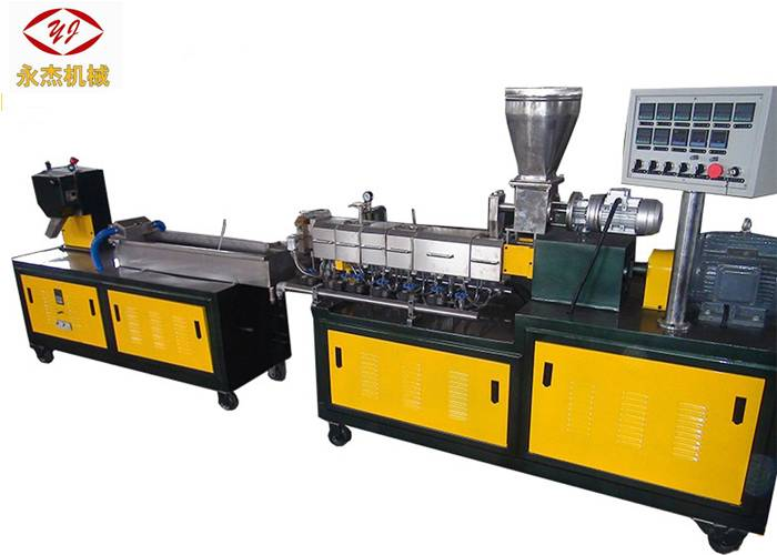 Water Strand PE PP ABS Extruder Machine , Plastic Recycling Granulator Machine