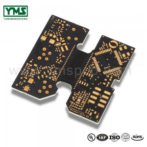Flex rigid Board half flex PCB Black Soldermask |  YMSPCB