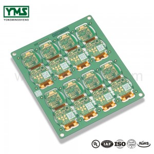 Rigid flex pcb multilayer FPC blind and buried via Qr code| YMSPCB
