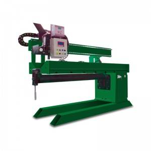 Welding machine for longitudinal seam