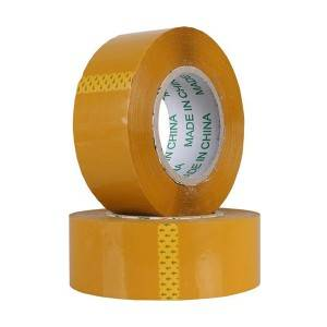 beige yellow color bopp acrylic glue adhesive packing tape