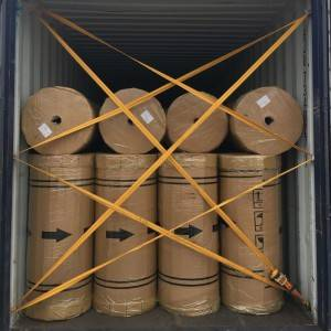 Yellow Transparent BOPP Tape Jumbo Roll 1280mm width