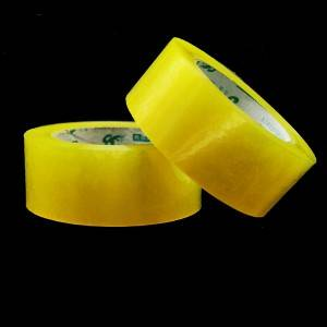 China Factory No Bubble Carton Sealing Tape yellowish adhesvie tape