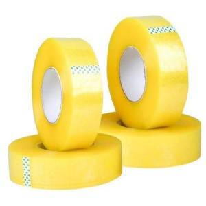 BOPP Transparent Yellowish Packaging Tape 48mm*300m for Carton Sealing