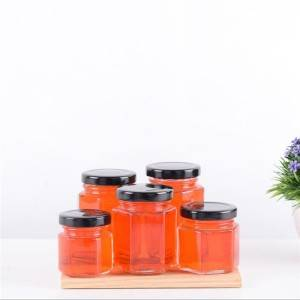 Hexagon honey jar