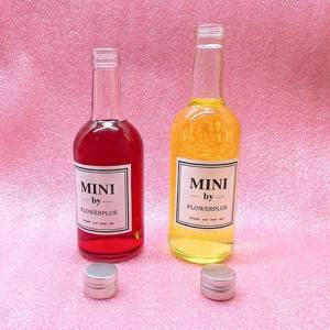 wholesale 250ml cylinder shape red wine glass bottle with screw lid