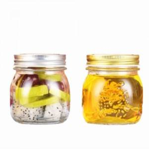 food grad glass mason jar with screw tin cap
