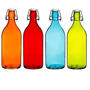 500ml fruit juice glass bottle with swing top lid