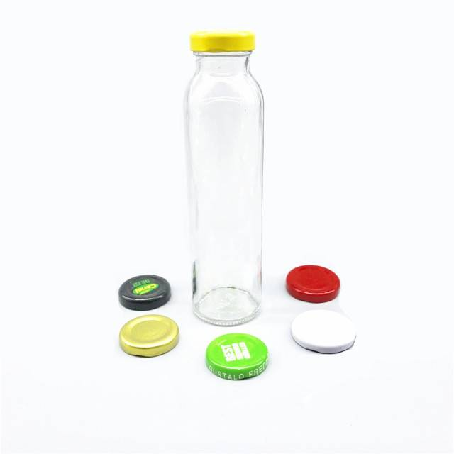 beverage glass bottle with screw metal cap Featured Image