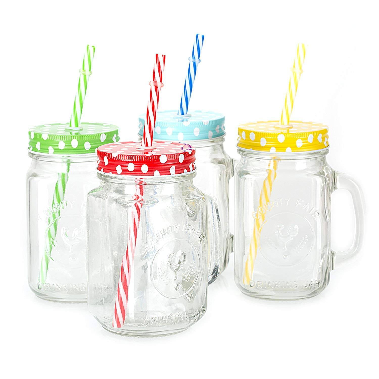 glass mason jar with cap and straw Featured Image