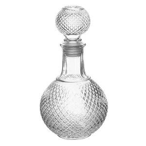 European Glass Bottle with Airtight Stopper, Liquor Decanter, 16 oz