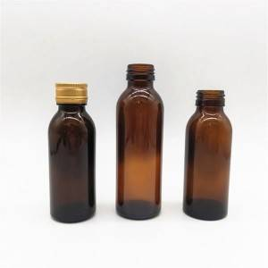 oral liquid syrup glass bottle