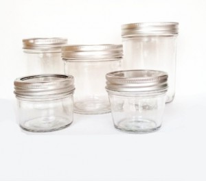glass caviar jar with cap