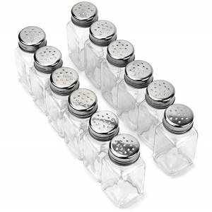70ML cheap price glass spice jar glass salt&pepper jar with metal caps