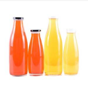 beverage glass bottle with screw tin cap