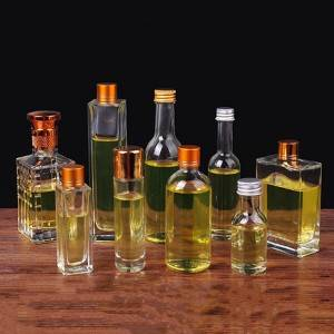 wholesale 100ml all shapes clear glass bottle wine glass bottle with screw lid
