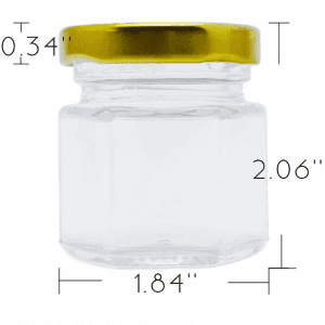 25ml glass honey jar