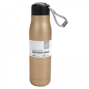 17oz stainless steel vacuum sports bottle Golden