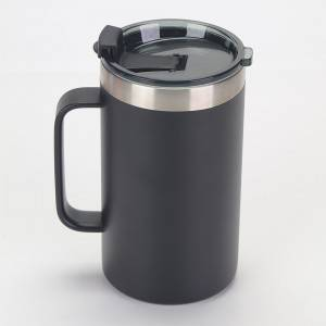 24oz hindi kinakalawang na asero kape tabo na may flip lid