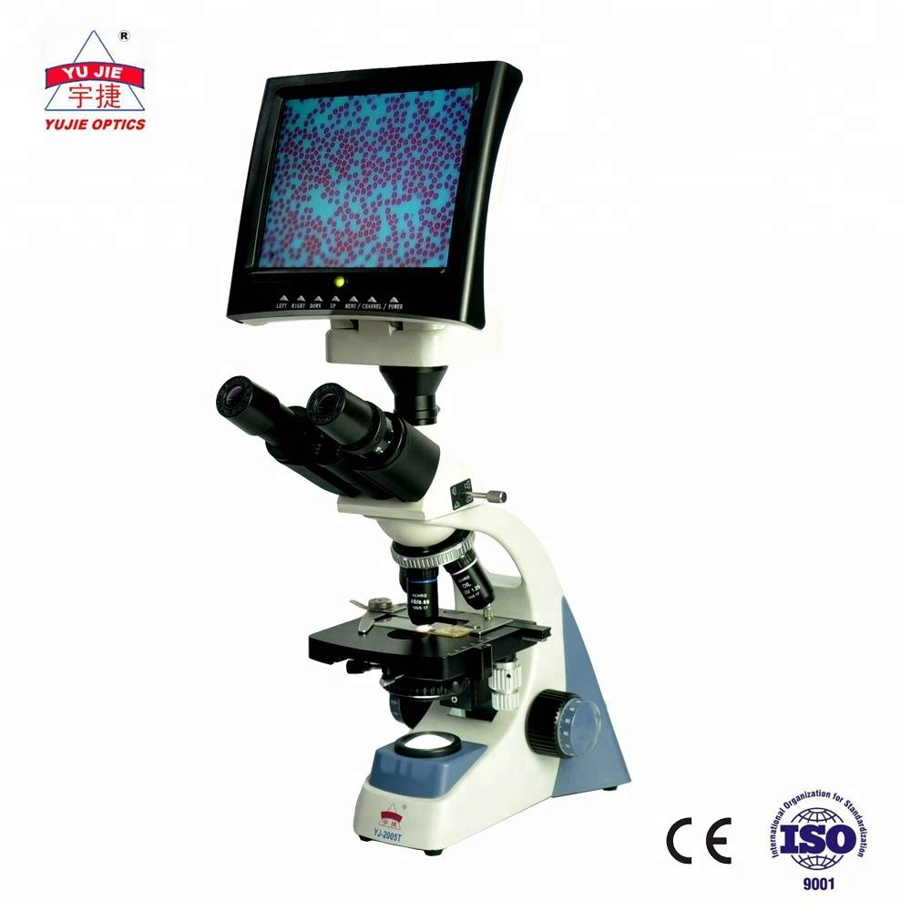 YUJIE biological microscope with LCD display 1000X YJ-2005LED