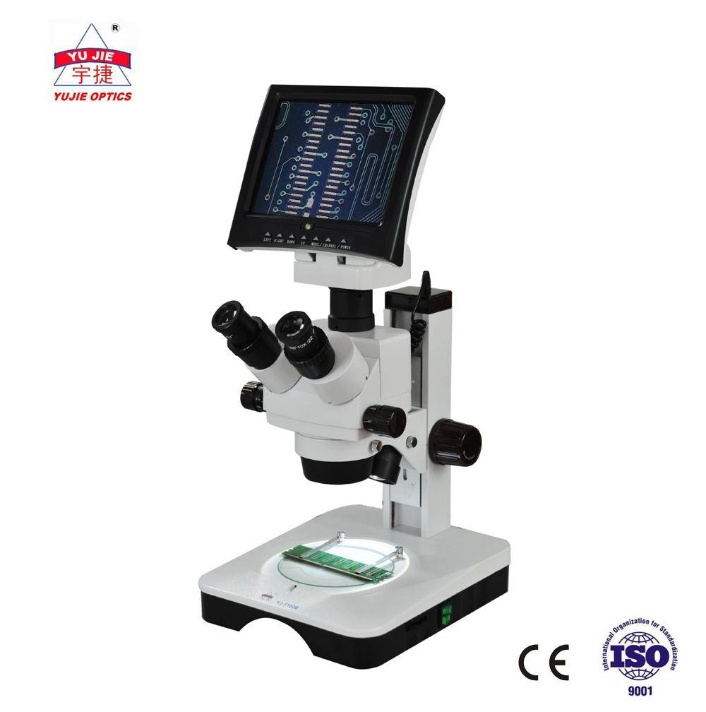 YUJIE Zoom Stereo Microscope with LED display 7X-45X YJ-T102LCD