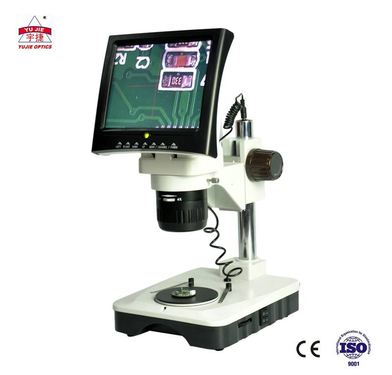 LED screen binocular Stereo Microscope industrial digital stereo microscope for inspection YJ-T7G-LED Featured Image