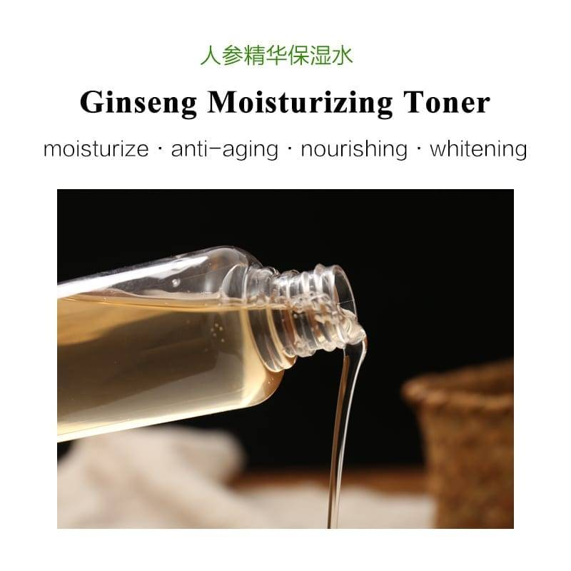 Best natural daily ginseng facial toner for face skin care, Moisturizing whitening anti-aging water skin toner,alcohol free