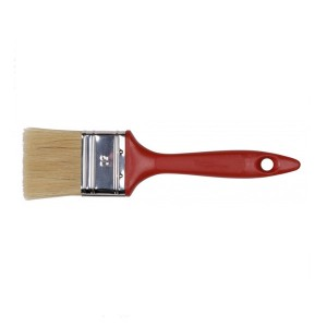 Flat paint brush with plastic handle from Chinese supplier