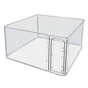 large galvanized tube chain link dog cage runs