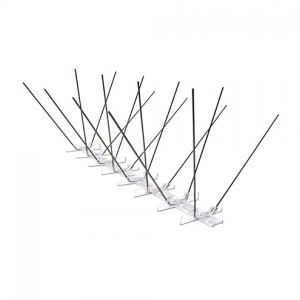 safe and humane stainless steel bird spikes with flexible pc base