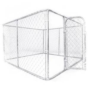 Factory selling 7.5 x 7.5 x 4 ft indoor hot dipped galvanized metal dog kennel