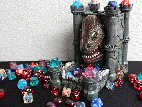 Dice tower and dice