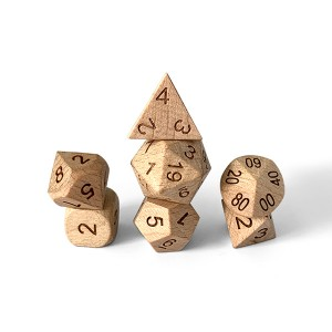 Wholesale Price Wooden Dice D20 - Beech Smaller – YuSun