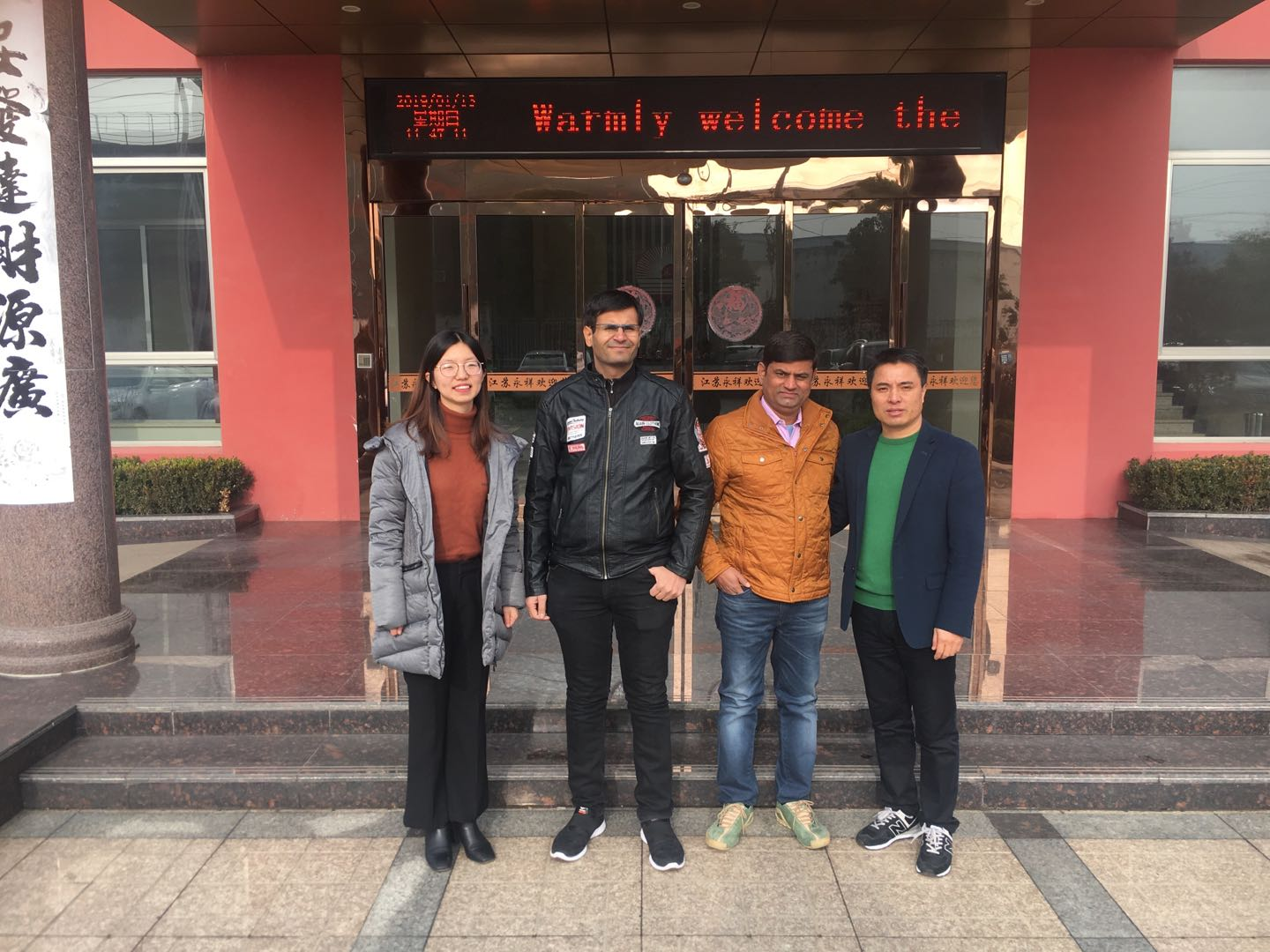 Warmly Welcome Indian Customers to Visit Yongxiang Hydraulic