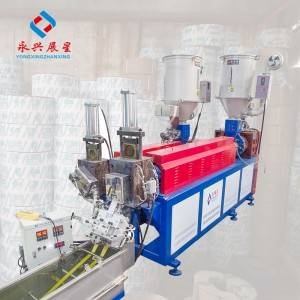 Double Screw 2 Straps Output PP strapping band Making Machine