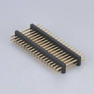 Pin Header Pitch:1.0mm(.039″) Dual Row  Straight Type  Dual Plastic