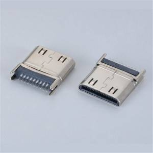 HDMI  C-Type Male Straddle Mount Type