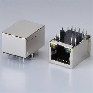 RJ45  Modular Jack Female Socket 8P8C  1x1Tab-UP 100Base