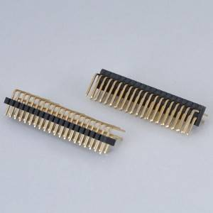 Pin Header  Pitch:1.0mm(.039″)  Dual Row  Right Angle Type