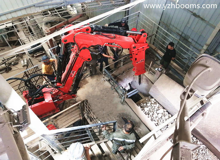 YZH Fixed Pedestal Rock Breaker Boom System Was Successfully Delivered To Chongqing Anrui Mining Company